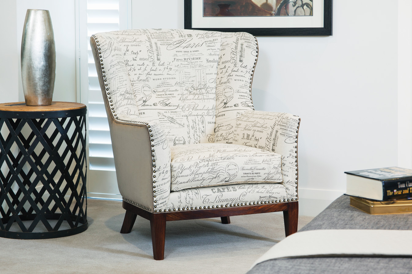 Cello Wing Chair – Sofa design and Manufacture, Perth - Torrance and ...