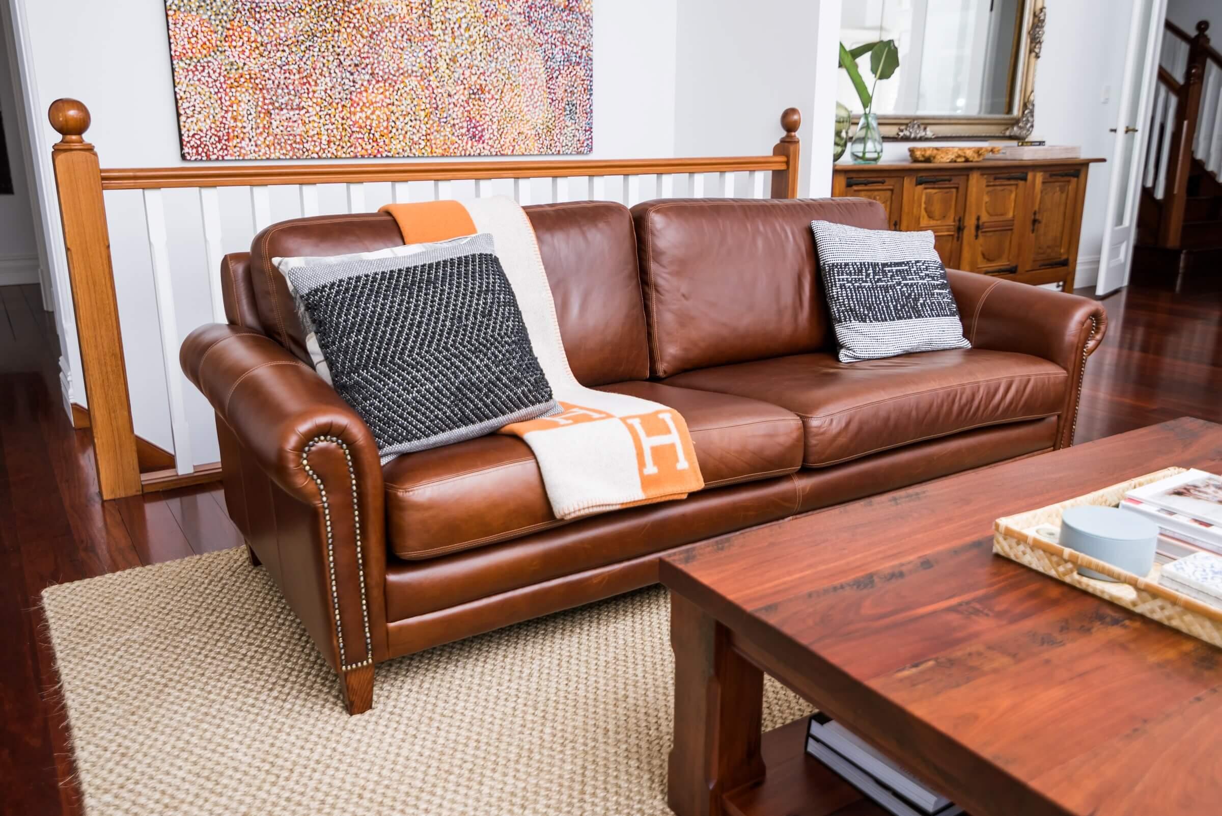 Angela Torrance & McKenna Flair Leather Sofa