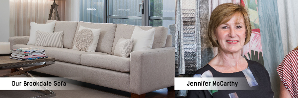 Jennifer McCarthy White Road Designs Brookdale Sofa Torrance and McKenna